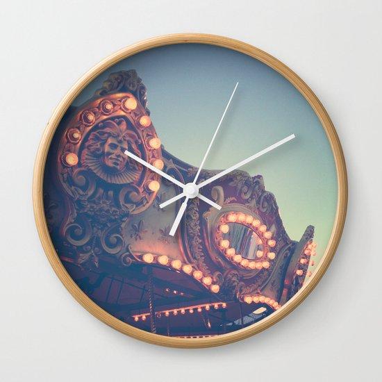 Twilight Carnival Ride Wall Clock