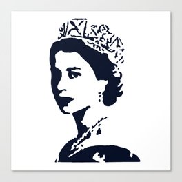 Young Queen in Blue Canvas Print