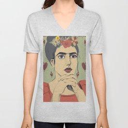 Frida love Unisex V-Neck