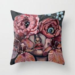 Flora_i Throw Pillow