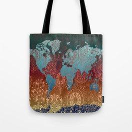 world map mandala vintage Tote Bag