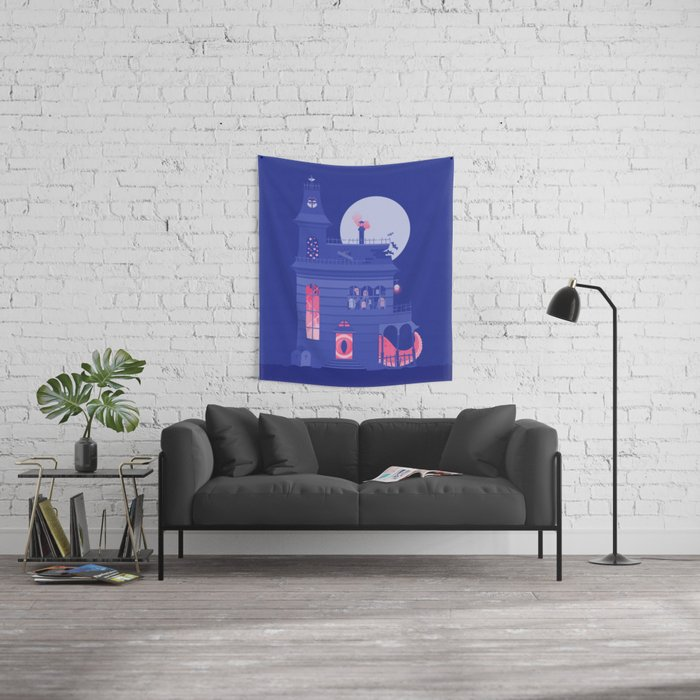 Cursed Residence Wall Tapestry