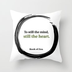 Inspirational Peace and Serenity Quote Throw Pillow