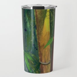 Colorful bamboo painting with gouache Travel Mug