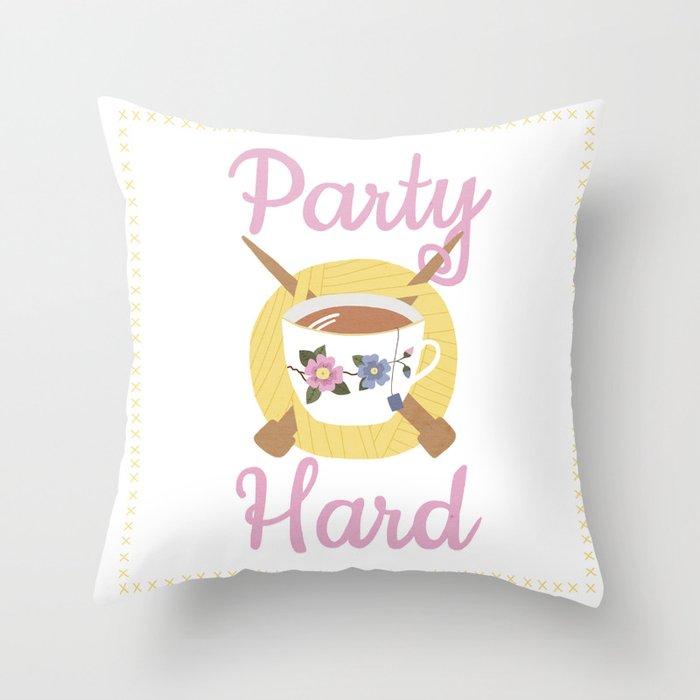 Party Hard Throw Pillow