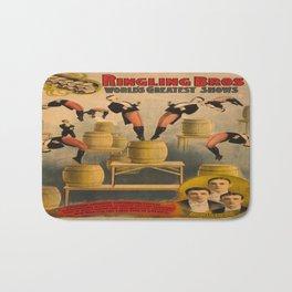 Vintage poster - Circus Acrobats Bath Mat