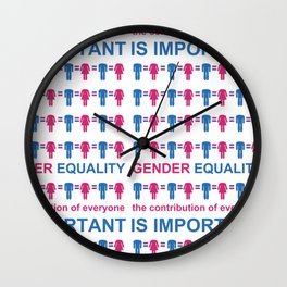 Gender Equality_05 by Victoria Deregus Wall Clock