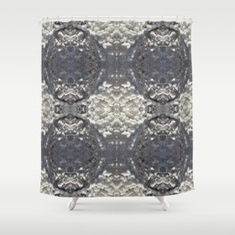 More Ice lattice Shower Curtain