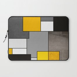 Black Yellow and Gray Geometric Art Laptop Sleeve
