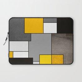 Black Yellow and Gray Geometric Art Laptop Sleeve