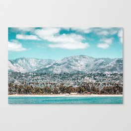 Houses are not allowed past the middle of that mountain. Canvas Print