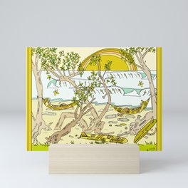 pura vida surf paradise surf nap surf till sunset // retro surf art by surfy birdy Mini Art Print