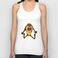 devil Tank Tops featuring Devil by mutto