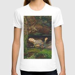 Ophelia from Hamlet Oil Painting by Sir John Everett Millais T-shirt