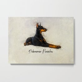 Doberman Pinscher Metal Print