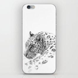 Leopard - Glance back iPhone Skin