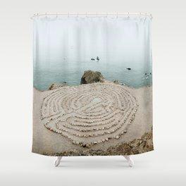 Lands End Labyrinth, San Francisco II Shower Curtain
