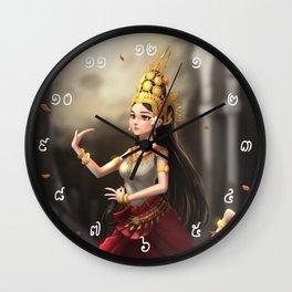 Apsara Dancer Wall Clock