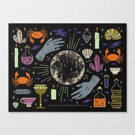 Spooky Horoscopes: Cancer Canvas Print