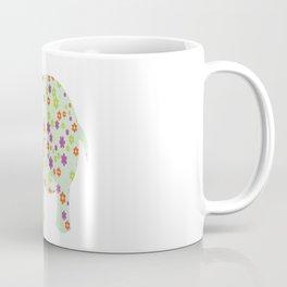 cute floral elephant Coffee Mug