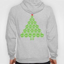 Green Skulls and Bones Christmas Tree Hoody