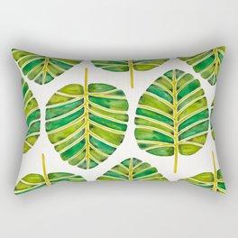 Elephant Ear Alocasia – Green Palette Rectangular Pillow