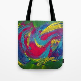 Tropical: Colorful and Fun Abstract Tote Bag