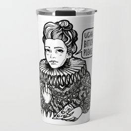 Pizza for the Queen Travel Mug
