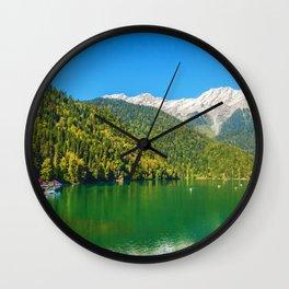 Lake and Mountains  Wall Clock