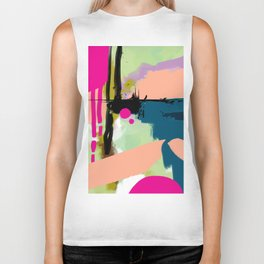 abstract color play Biker Tank