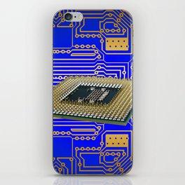 processor cpu board circuits iPhone Skin