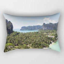 Railay Bay - Rai Leh Beach, Krabi Thailand  -  Tropical Paradise Rectangular Pillow