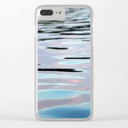 Pink, Lavender, and Blue Water Abstract Clear iPhone Case