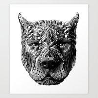 pitbull Art Prints featuring Pitbull by BIOWORKZ