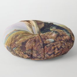Man With A Hoe - Digital Remastered Edition Floor Pillow