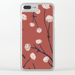 Dandelions on Earth Red Clear iPhone Case