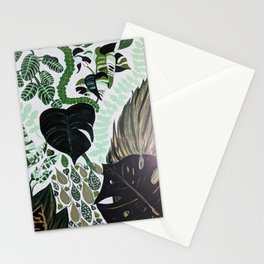 assorted leaves Stationery Cards