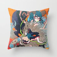barachan Throw Pillows featuring hyeolyeon by barachan