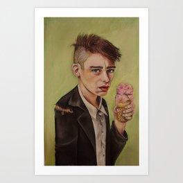 Ice Cream Boy Art Print
