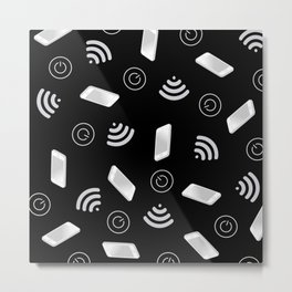 Techy Wi-Fi Metal Print