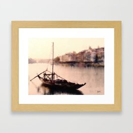 The Duoro at Sunset Framed Art Print