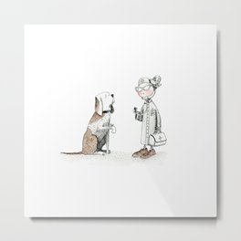 The little doctor and her dog |INJURED| by Alison Metal Print