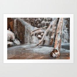 Frozen Avalon Falls Art Print