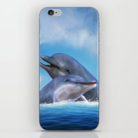 dolphins iPhone & iPod Skins featuring Dolphins by Susann Mielke