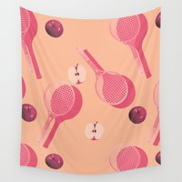 tennis Wall Tapestries featuring TENNIS by Rhianna Ellington
