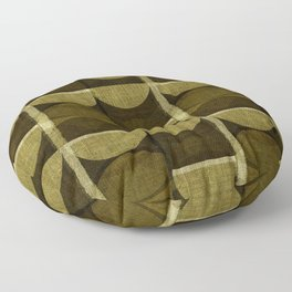 """""""Retro Olive green Chained Circles"""" Floor Pillow"""