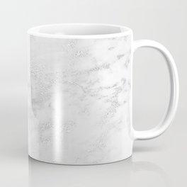 Light Grey Marble Silver Glitter Gray Coffee Mug