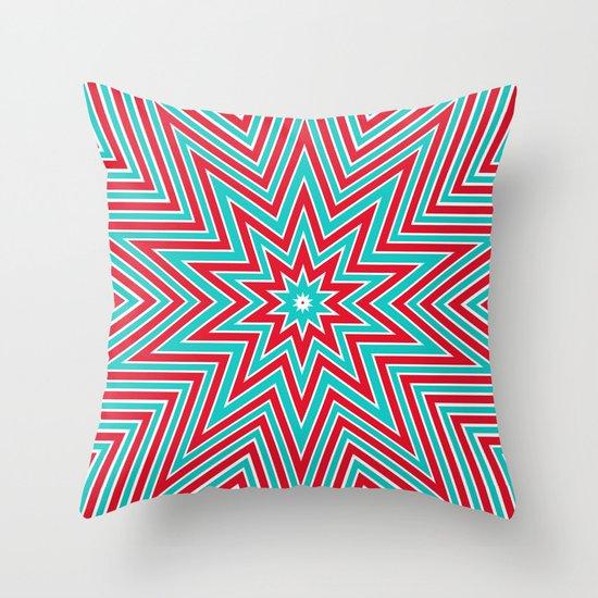 Christmas star Throw Pillow