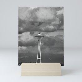Seattle Skyline - B & W Mini Art Print