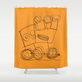Ben's Monster Trucks no.3 Shower Curtain